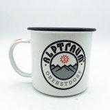 La promoción vendedora caliente hace publicidad de la taza del regalo, tazas de encargo del esmalte de la hoguera para al aire libre