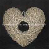 En forma de corazón de sauce para la decoración de boda