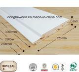 Panneau de mur enduit blanc de bois de charpente
