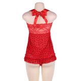 En Stock faible MOQ Plus Size rouge trésors secrets les vêtements de nuit
