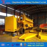 Equipo aluvial de la toma panorámica de la minería aurífera del placer de China