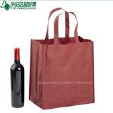 6 bouteilles ont feuilleté les supports de vin de laminage de diviseurs de sacs tissés par pp