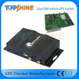 Двухсторонне обнаружьте местонахождение двойной отслежыватель корабля SIM GPS с двойным контроль топлива Camera/4