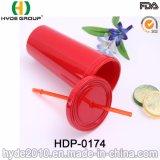 多彩な20oz BPAはわらが付いているプラスチック水タンブラーを放す