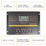 80A 12V/24V USB-5V/0.5A Solarbatterie-Ladung/Einleitung-Controller S80