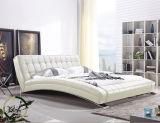 La mobilia di legno moderna progetta la base molle del cuoio artificiale