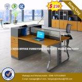 Partición de madera de la oficina del sitio de trabajo de 4 asientos $288 (HX-8N0168)