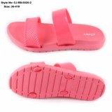Deslizador superior de EVA Outsole das sandálias do PVC das mulheres para a senhora