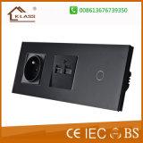 Interruttore elettrico all'ingrosso della parete di alta qualità 3gang+3gang+3gang