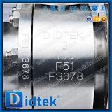 La vávula de bola de dos piezas de flotación del acero inoxidable de Didtek con la llave inglesa funcionó