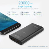 Banco de potência 18650 20000 mAh bateria externa LCD móvel portátil USB duplas Powerbank Carregador Rápido