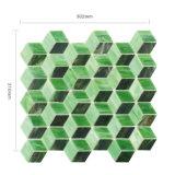 Tegel van het Mozaïek van het Glas van de Badkamers van de kunst de Groene Muur Gekleurde voor Decoratie