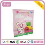 Petit lapin rose paquet cadeau des vêtements supermarché sac de papier couché