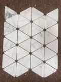 Nuevo Diseño de mármol blanco Calacatta Mosaico en forma nueva a precios muy competitivos