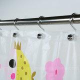 Новизна разработки экологически безвредные душ PEVA шторки, напечатанных с помощью желтой лягушки
