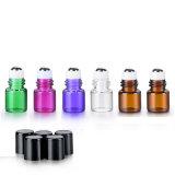 Amostras gratuitas 5ml 8 ml 10ml 15ml Rolo de vidro âmbar na garrafa com a esfera do Rolo de Aço Inoxidável