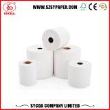 Rouleau de papier thermique de qualité 57 mm avec paquet en papier doré