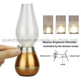 Contrôle de soufflage classique OEM réglable LED rechargeables USB Kérosène lampe de table de bureau