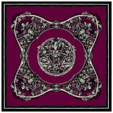 印刷された絹のスカーフの正方形は中国をカスタム設計する