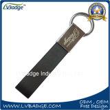 Metal suave personalizado dimensión de una variable rectangular del esmalte y encadenamiento dominante de cuero