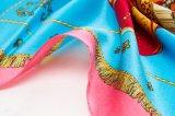 Écharpe en soie estampée florale de logo de modèle neuf