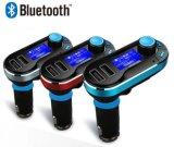 La musica dell'azionamento dell'istantaneo del USB di Bluetooth del trasmettitore di FM passa l'adattatore libero della radio del modulatore del giocatore di MP3 del kit dell'automobile FM per il iPhone Samsung