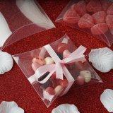 De duidelijke Plastic Giften die van het Suikergoed van de Verjaardag van de Partij van de Dozen van de Gunst van het Huwelijk van het Hoofdkussen de Levering van Decoratie verpakken