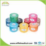 El algodón Venta caliente Kinesiología médica de la cinta con la certificación ISO y CE