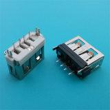 Het korte Rechte Wijfje USB 2.0 van het Lichaam voor de Schakelaar van PCB