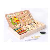 早い子供の赤ん坊の幼児のための教育進化の困惑のおもちゃを学ぶ木のMontessoriの教育用具の多機能の数学操作のデッサンボックス