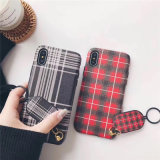 2018 новых прибытия корейского стильный простой решеточной шнурок ИЗ ТЕРМОПЛАСТИЧНОГО ПОЛИУРЕТАНА мобильного телефона чехол для iPhone