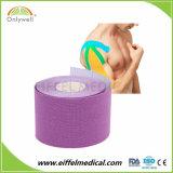 Un adhésif élastique d'athlétisme de coton d'usine de la santé kinésiologie multicolore de bandes de muscle