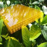 Hoja hueco del policarbonato de cuatro paredes para el material de construcción