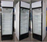 Refrigerador vertical do indicador do congelador da bebida porta quente da venda da única (LD-430F)