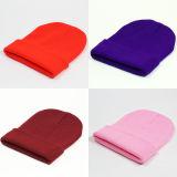 Cappello caldo del Beanie della protezione del cranio di inverno lavorato a maglia cavo molle di stirata delle donne (HW133)
