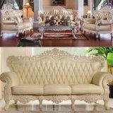 Mobilia del salone con il sofà di cuoio classico (512C)