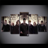 HDプリントは居間映像のキャンバスのための油絵5のパネル映画Harry Potterの文字壁の絵画を組み立てる