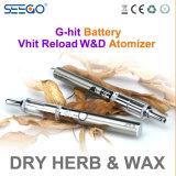Cig seco fantástico de la recarga W&D E de Vapeorizer de la hierba de Seego