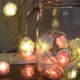 크리스마스 나무 훈장 로즈 펀던트 LED 가벼운 RGB 휴일 시간 빛