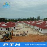Estructura de acero de la luz de la construcción como proyecto de casa prefabricada