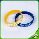Kundenspezifischer Firmenzeichen-Silikon-Moskitoabstoßender Wristband mit der Debossed Farbe gefüllt