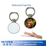 Sublimación mayorista de telefonía móvil de Metal Blanco Anillo de dedo