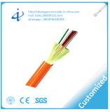 Câble fibre optique d'intérieur de tube de PVC de GJFJV avec le faisceau 4 à plusieurs modes de fonctionnement