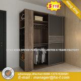 Guardaroba di legno della mobilia della camera da letto di disegno moderno 2017 con due colori (HX-8ND9249)