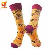 China bilden Ihre eigene Entwurfs-Baumwolle glückliche Socken-Frauen Gefäß-Socken