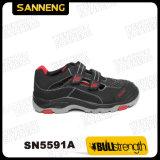 Sapatas da sandália da segurança industrial com sola de PU/Rubber (SN5591)