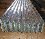 波形の電流を通された鋼鉄屋根瓦亜鉛上塗を施してある金属の屋根ふき
