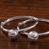 S999 y Anklets pulseras de plata de los niños con campanas