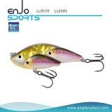 Attrait Lipless de palan de pêche de poissons d'école avec les crochets triples de Bkk