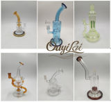유리제 관 공상 디자인 유리제 연기가 나는 수관